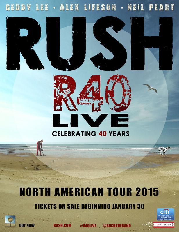 RUSH ANNOUNCES R40 LIVE TOUR