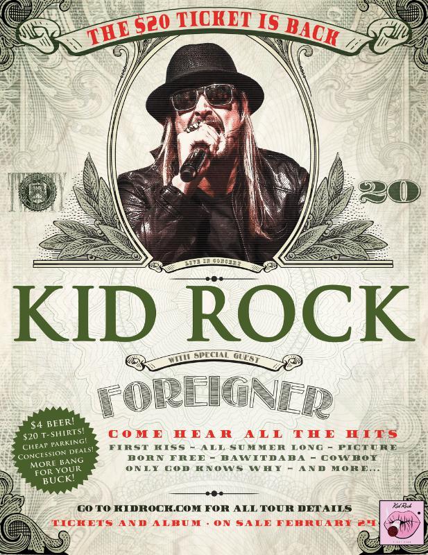 KID ROCK ANNOUNCES SUMMER TOUR (PRNewsFoto/Live Nation Entertainment)