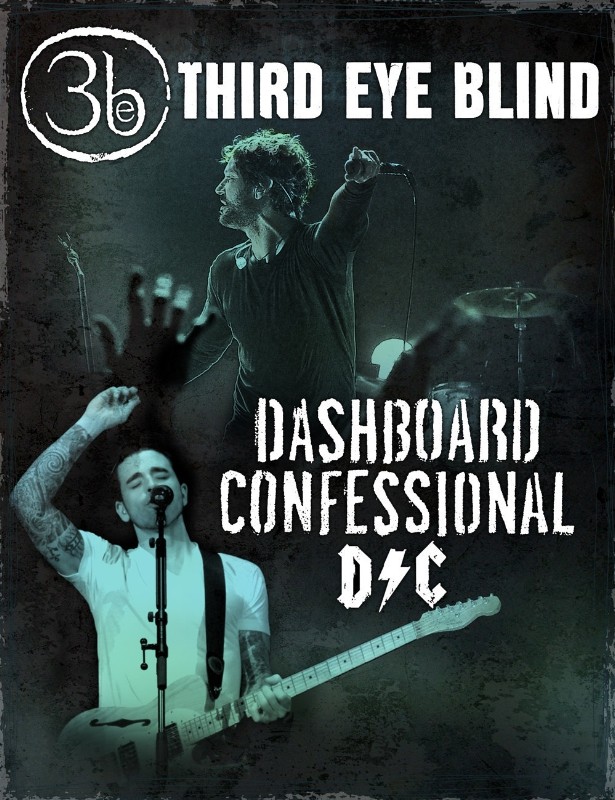 THIRD EYE BLIND AND DASHBOARD CONFESSIONAL ANNOUNCE SUMMER 2015 TOUR (PRNewsFoto/Live Nation Entertainment)