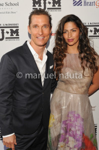 Camila and Matthew McConaughey on April 11, 2013 in Austin, Texas.