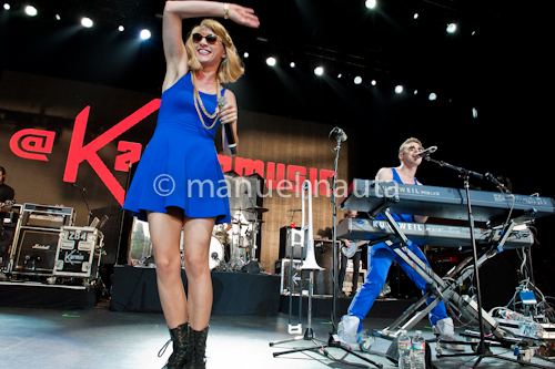 Amy Heidemann (L) and Nick Noonan (R) of Karmin © manuel nauta