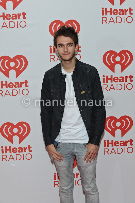 Zedd poses backstage during the 2013 iHeartRadio Music Festival