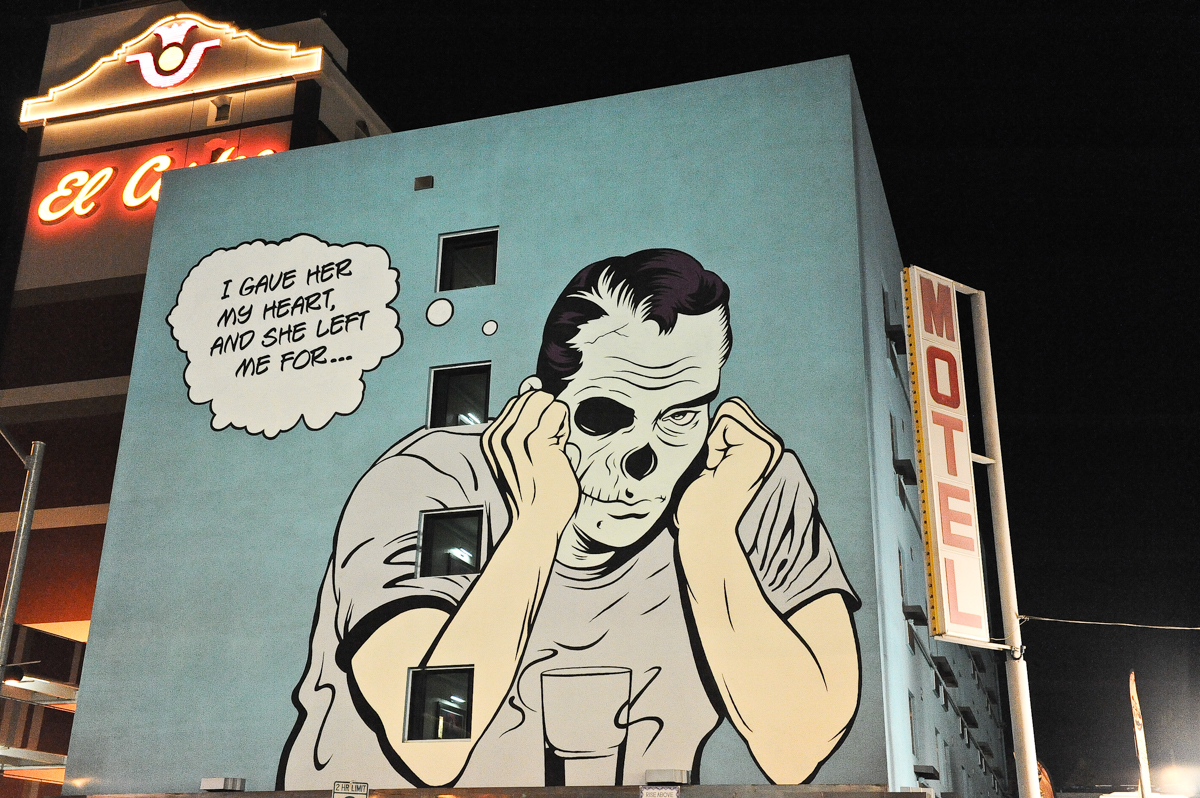 A mural by artist D*Face at Life Is Beautiful Festival on October 26, 2013 in Las Vegas, Nevada. Photo © Manuel Nauta