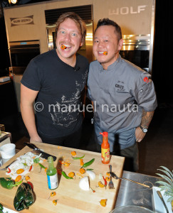 Chef Jet Tilla and Ben McKee from Imagine Dragons - © Manuel Nauta