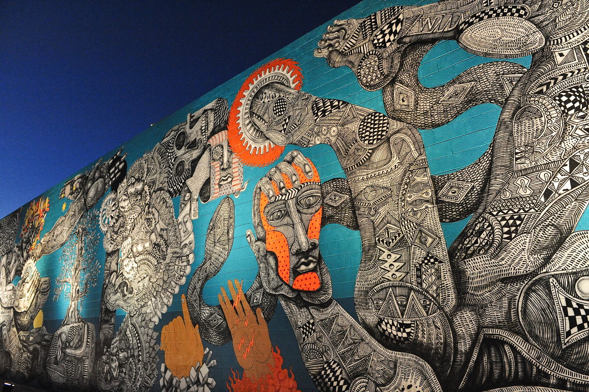 A mural by artist Zio Ziegler at Life Is Beautiful Festival on October 26, 2013 in Las Vegas, Nevada. Photo © Manuel Nauta