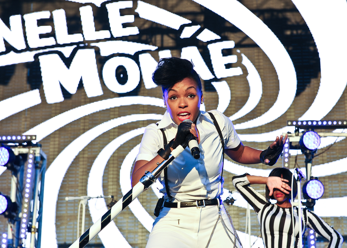 Recording artist Janelle Monae performs during the Life is Beautiful festival on October 27, 2013 in Las Vegas, Nevada. Photo © Manuel Nauta