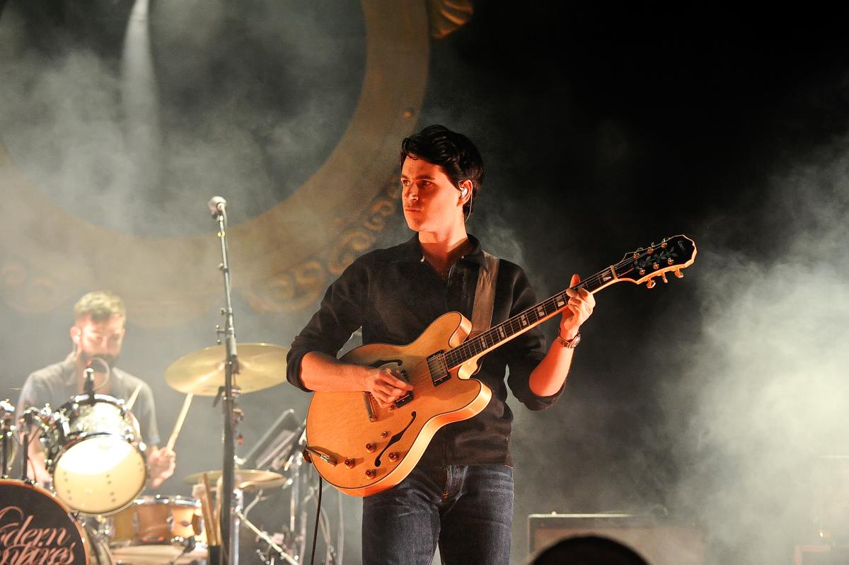Singer/guitarist Ezra Koenig of Vampire Weekend performs during the Life is Beautiful festival on October 27, 2013 in Las Vegas, Nevada. Photo © Manuel Nauta