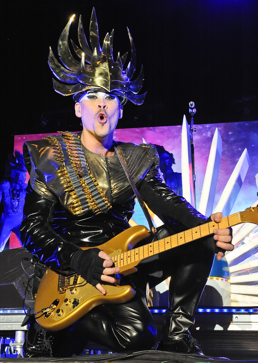 Recording artist Luke Steele of Empire of the Sun performs during the Life is Beautiful festival on October 27, 2013 in Las Vegas, Nevada. Photo © Manuel Nauta