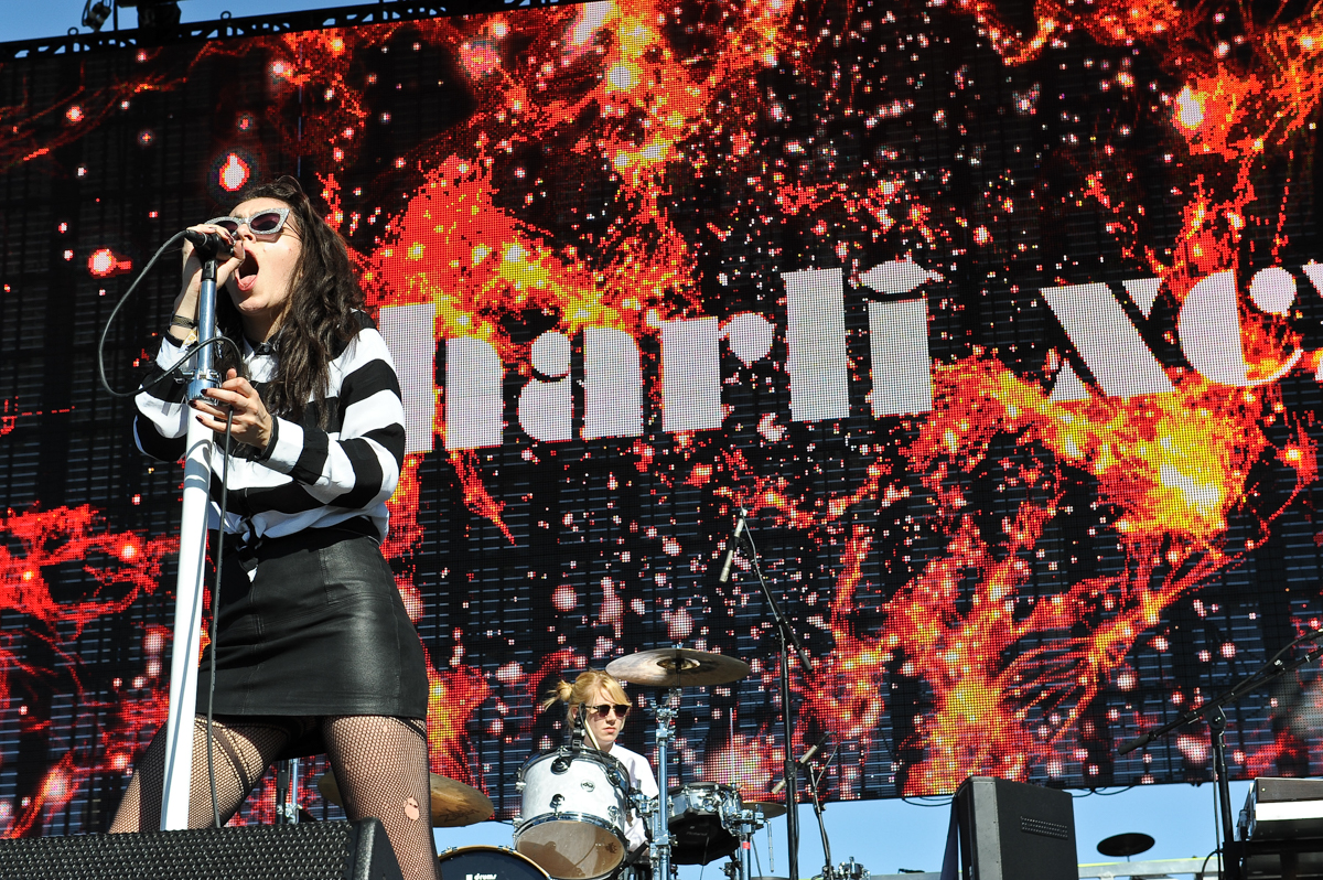 Singer Charli XCX performs during day 2 of the Life Is Beautiful Festival on October 27, 2013 in Las Vegas, Nevada. Photo © Manuel Nauta