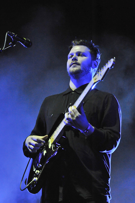 Joe Newman with Alt J performs at the Life Is Beautiful Festival on October 25, 2014 in Las Vegas, Nevada. Photo © Manuel Nauta