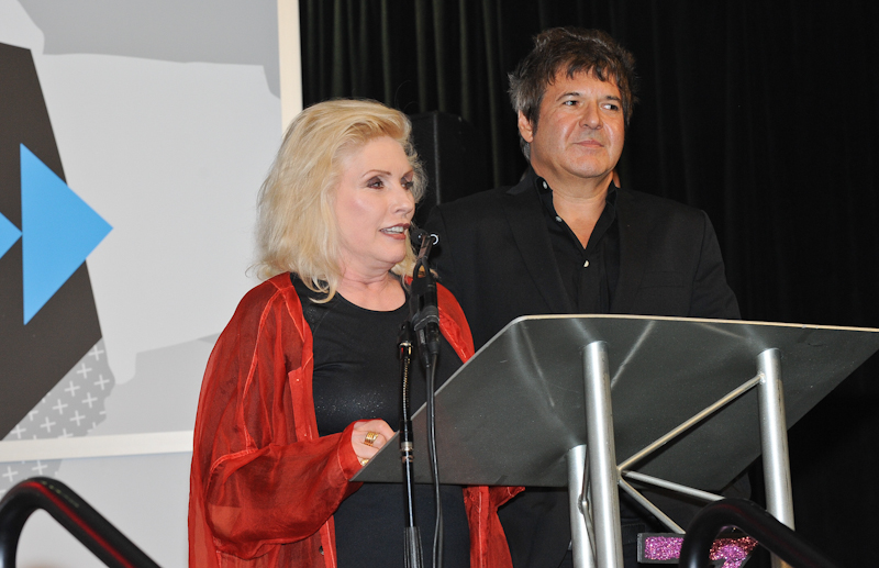 "Debbie Harry ""Blondie"" (L) with Clem Burke (R) introduce Kathy Valentine from the Go-Go's who will be receiving the Hall Of Fame Award at the Austin Music Awards during SXSW on March 12, 2014 in Austin, Texas - USA."