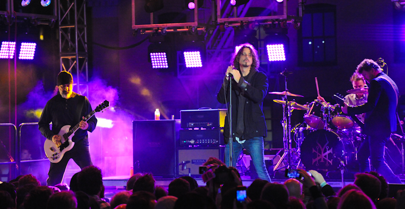 (L-R) Kim Thayil, Chris Cornell, Matt Cameron and Ben Shepherd © Manuel Nauta