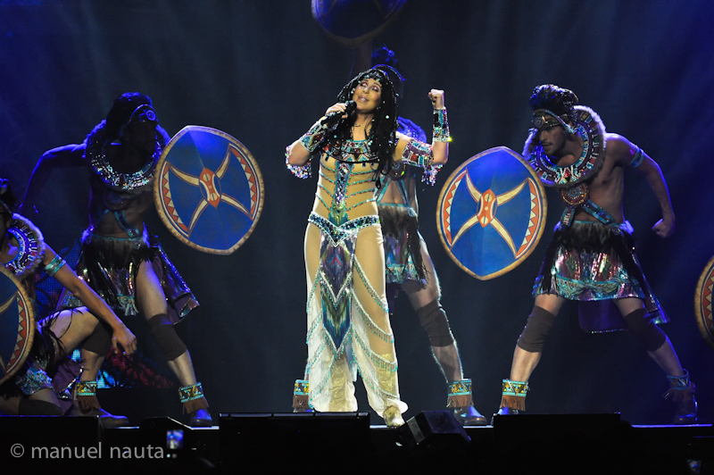 "Cher performs onstage during her ""Dressed To Kill"" tour at the Toyota Center on March 24, 2014 in Houston, Texas. © Manuel Nauta"