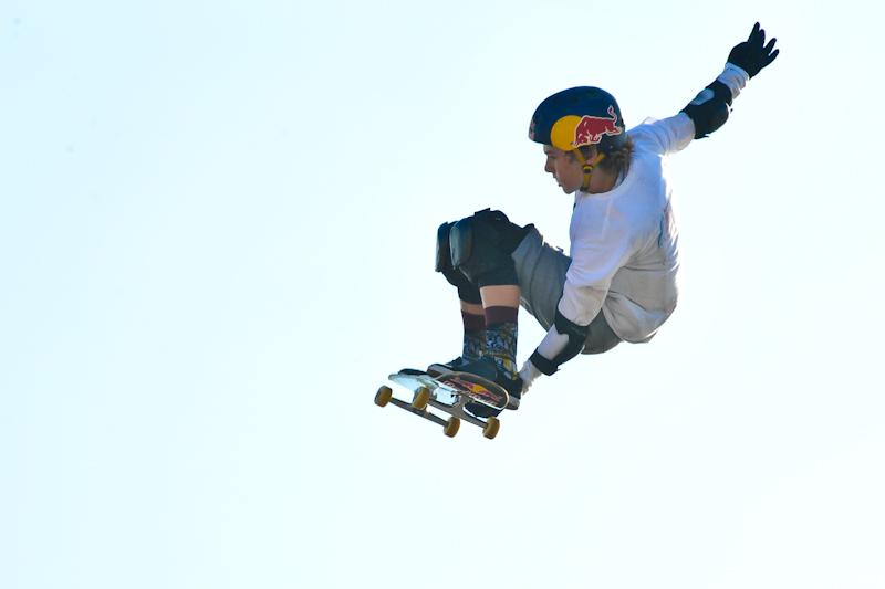 Gold Medalist Tom Schaar at Skateboard Big Air  / Photo © Manuel Nauta