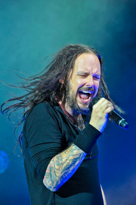 Jonathan Davis with KORN  at The Woodlands / Photo © Manuel Nauta