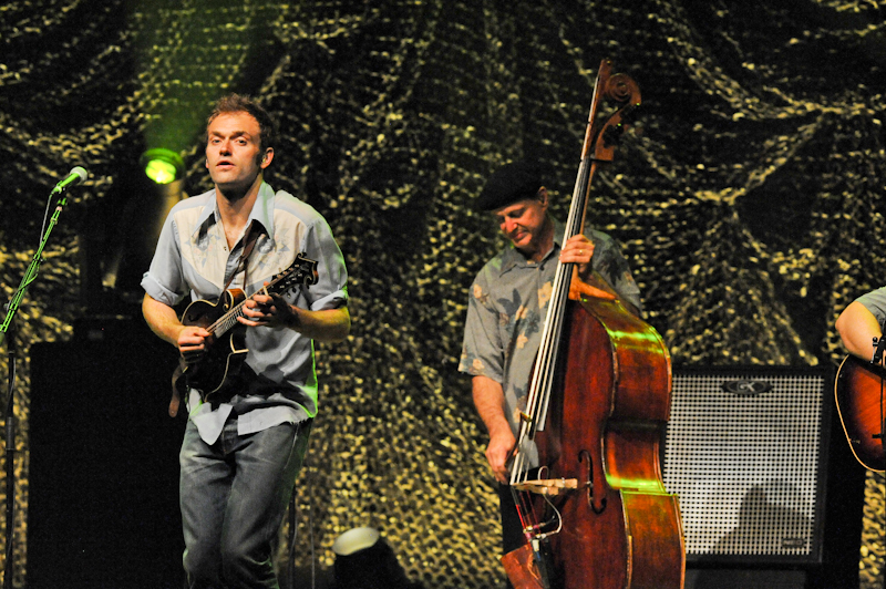 Chris Thile (L) and Mark Schatz of Nickel Creek in concert at ACL Live  / Photo © Manuel Nauta