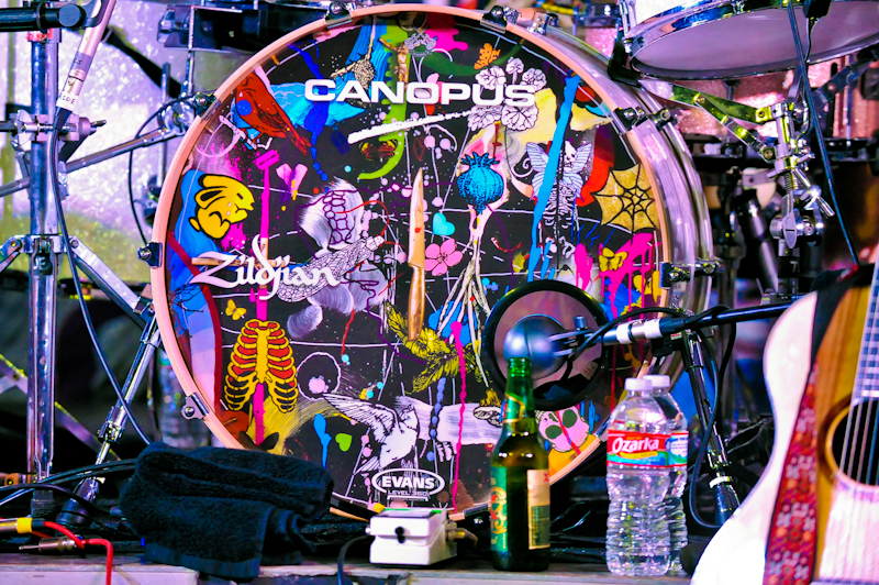 Paolo Nutini's drum set / Photo © Manuel Nauta