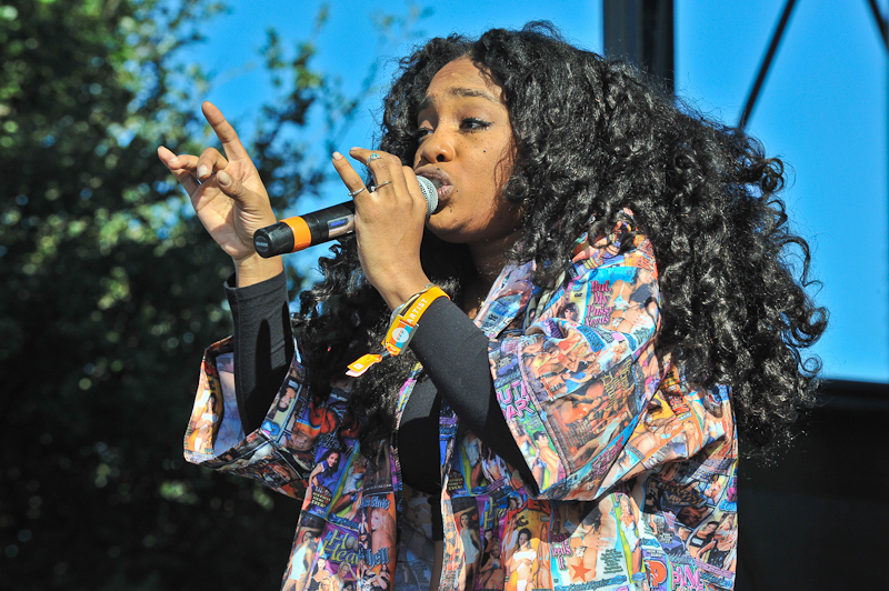 Solana Rowe aka SZA  performs in concert during Day 1 of FunFunFun Fest at Auditorium Shores on November 7, 2014 in Austin, Texas. Photo © Manuel Nauta