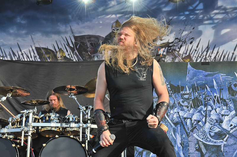 Johan Hegg of Amon Amarth performs in concert during Day 1 of FunFunFun Fest at Auditorium Shores on November 7, 2014 in Austin, Texas. Photo © Manuel Nauta.