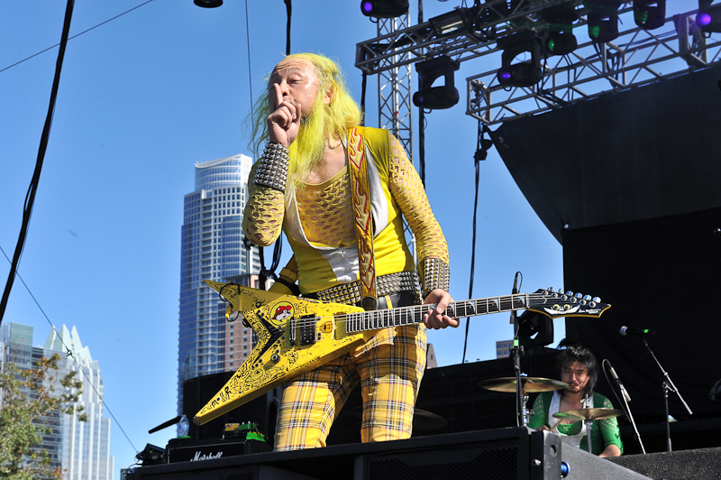 Kengo Hioki of Peelander-Z performs in concert during Day 1 of FunFunFun Fest at Auditorium Shores on November 7, 2014 in Austin, Texas. Photo © Manuel Nauta
