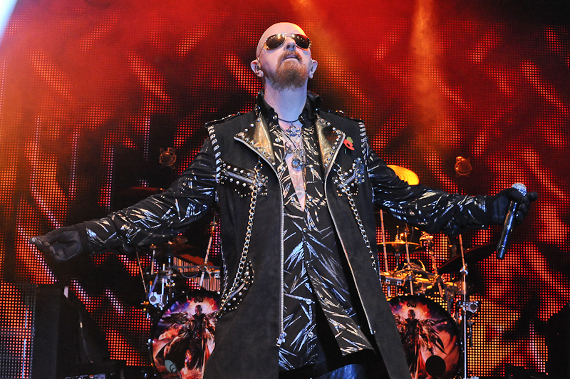 Rob Halford of Judas Priest performs in concert during Day 1 of FunFunFun Fest at Auditorium Shores on November 7, 2014 in Austin, Texas. Photo © Manuel Nauta
