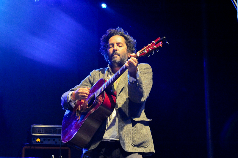 Dan Bejar of The New Pornographers performs in concert during Day 2 of FunFunFun Fest at Auditorium Shores on November 8, 2014 in Austin, Texas. Photo © Manuel Nauta