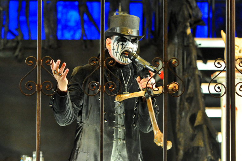 King Diamond performs in concert during Day 2 of FunFunFun Fest at Auditorium Shores on November 8, 2014 in Austin, Texas. Photo © Manuel Nauta