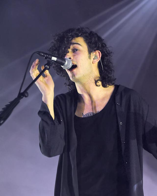 Matthew Healy of the band The 1975 performs in concert at Austin Music Hall on November 25, 2014 in Austin, Texas. Photo © Manuel Nauta