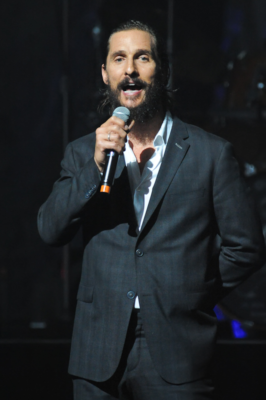 Matthew McConaughey speaks during the Mack, Jack & McConaughey charity gala at ACL Live on April 16, 2015 in Austin, Texas. Photo © Manuel Nauta