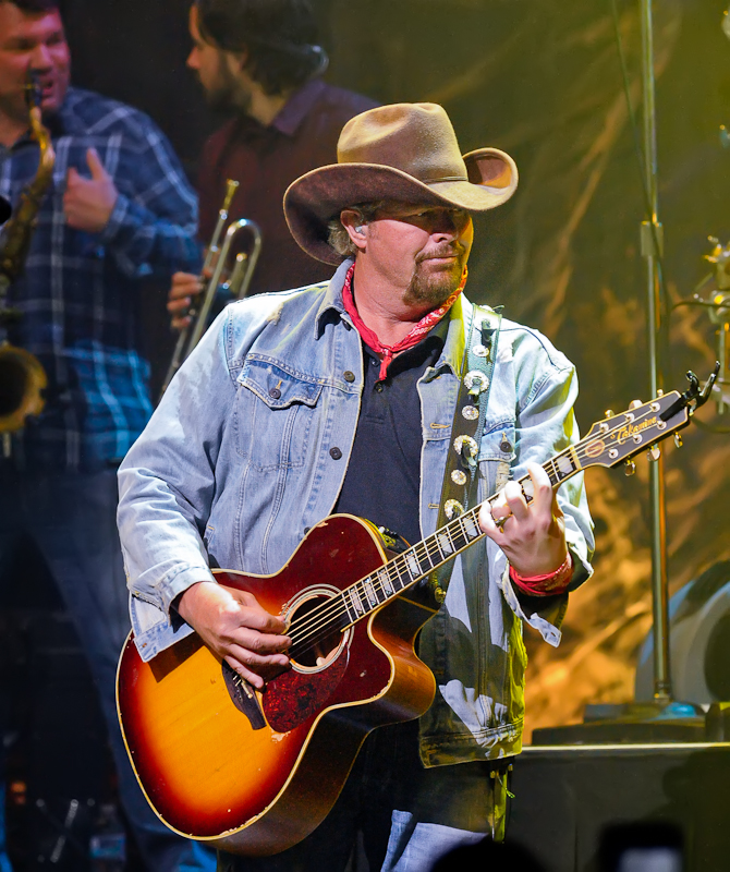 Toby Keith performs onstage during the third Mack, Jack & McConaughey charity gala at ACL Live on April 16, 2015 in Austin, Texas. Photo © Manuel Nauta