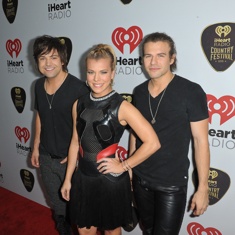 Musicians Neil Perry, Kimberly Perry and Reid Perry of The Band Perry attend the 2015 iHeartRadio Country Festival at The Frank Erwin Center on May 2, 2015 in Austin, Texas. Photo © Manuel Nauta