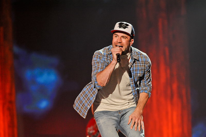 Singer Sam Hunt performs onstage during the 2015 iHeartRadio Country Festival at The Frank Erwin Center on May 2, 2015 in Austin, Texas.  Photo © Manuel Nauta