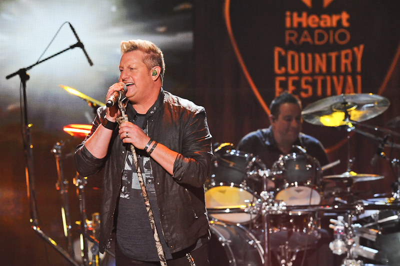 Singer Gary LeVox of Rascal Flatts performs onstage during the 2015 iHeartRadio Country Festival at The Frank Erwin Center on May 2, 2015 in Austin, Texas. Photo © Manuel Nauta