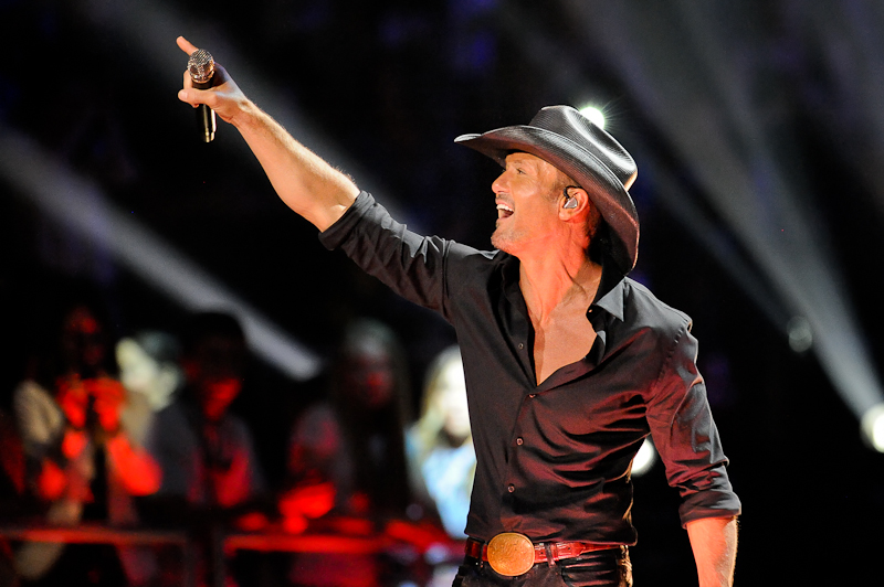 Singer Tim McGraw performs onstage during the 2015 iHeartRadio Country Festival at The Frank Erwin Center on May 2, 2015 in Austin, Texas.  Photo © Manuel Nauta