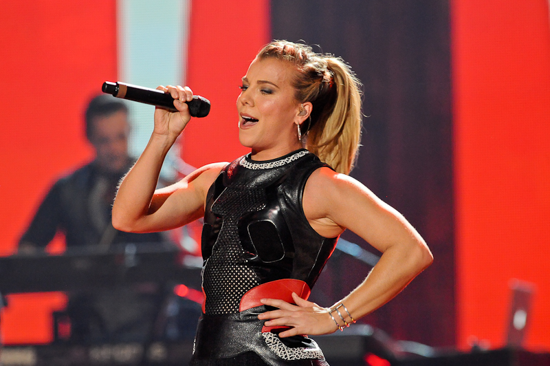 Singer Kimberly Perry of The Band Perry performs onstage during the 2015 iHeartRadio Country Festival at The Frank Erwin Center on May 2, 2015 in Austin, Texas.  Photo © Manuel Nauta
