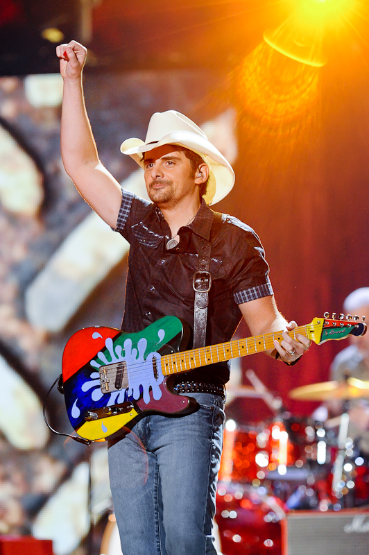 Musician Brad Paisley performs onstage during the 2015 iHeartRadio Country Festival at The Frank Erwin Center on May 2, 2015 in Austin, Texas. Photo © Manuel Nauta