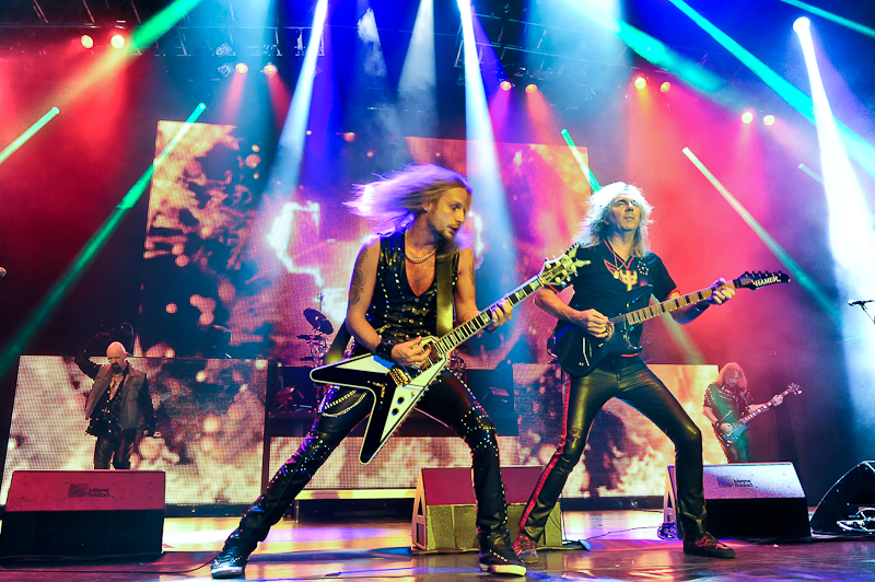 Richie Faulkner, Glenn Tipton and Rob Halford of Judas Priest / Photo © Manuel Nauta
