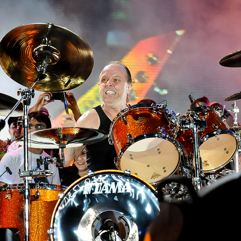 Lars Ulrich of Metallica performs in concert during X Games Austin at Circuit of The Americas on June 6, 2015 in Austin, Texas. Photo © Manuel Nauta