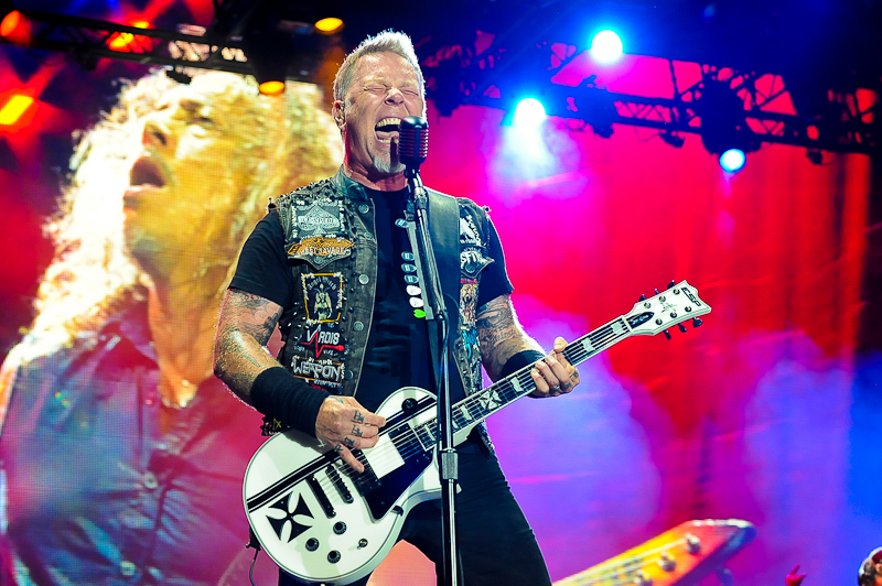 James Hetfield of Metallica performs in concert during X Games Austin at Circuit of The Americas on June 6, 2015 in Austin, Texas. / Photo © Manuel Nauta
