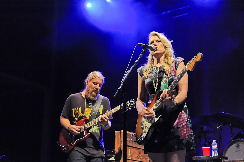 Derek Trucks and Susan Tedeschi with the Tedeschi Trucks Band perform in concert at Austin360 Amphitheater on July 12, 2015 in Austin, Texas. Photo © Manuel Nauta
