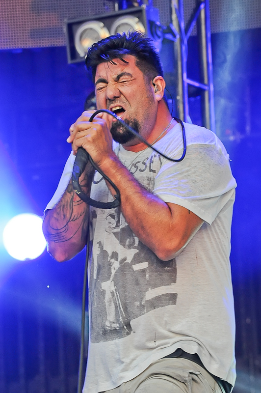 Chino Moreno of Deftones performs in concert at Austin360 Amphitheater on August 17, 2015 in Austin, Texas. Photo © Manuel Nauta