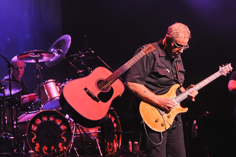 Phil Ehart and Rich Williams of the band Kansas perform in concert at the Long Center on August 20, 2015 in Austin, Texas. Photo © Manuel Nauta