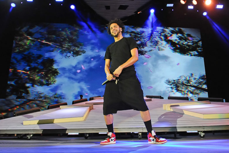 J. Cole performs in concert at the Austin360 Amphitheater on August 22, 2015 in Austin, Texas. Photo © Manuel Nauta