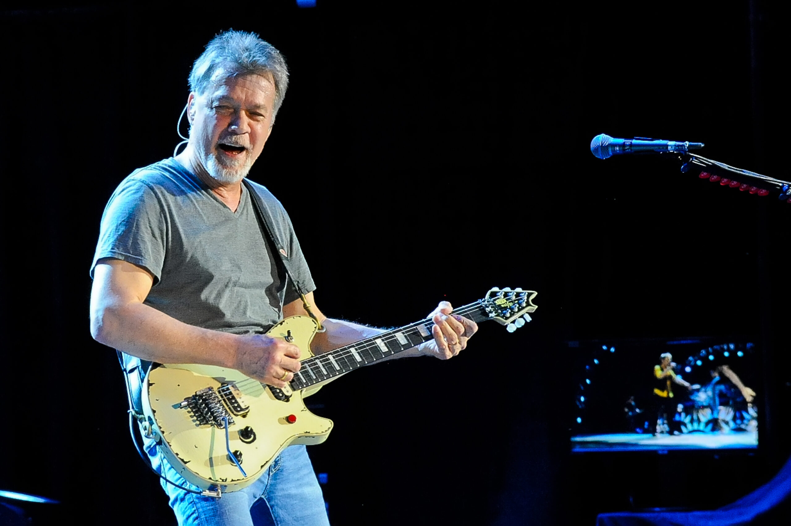 Eddie Van Halen of Van Halen performs in concert at The Cynthia Woods Mitchell Pavilion on September 25, 2015 in The Woodlands, Texas. Photo © Manuel Nauta