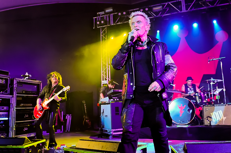 Billy Idol performs in concert at Stubb's on October 1, 2015 in Austin, Texas. Photo © Manuel Nauta