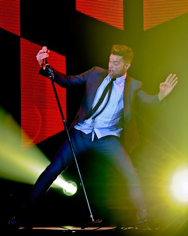 Ricky Martin performs in concert during the ONE WORLD TOUR at the Freeman Coliseum on October 3, 2015 in San Antonio, Texas. Photo © Manuel Nauta
