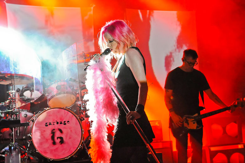 Shirley Manson of the band Garbage performs in concert at Stubb's on October 14, 2015 in Austin, Texas. Photo © Manuel Nauta