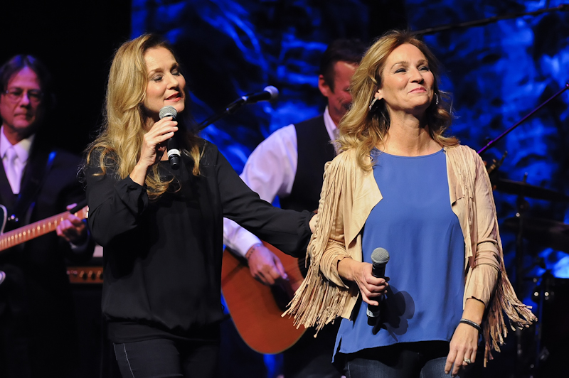 Patsy Lynn ( R ) and Peggy Lynn opening the show for Loretta Lynn at ACL Live on October 18, 2015 in Austin, Texas. Photo © Manuel Nauta