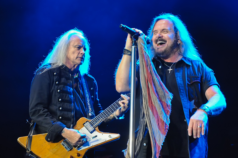 Rickey Medlocke (L) and Johnny Van Zant of Lynyrd Skynyrd perform in concert at Cedar Park Center on January 28, 2016 in Austin, Texas. Photo © Manuel Nauta