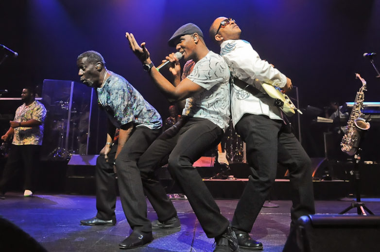 (L-R) Michael Ray, Lavell Evans and Shawn McQuiller of Kool and The Gang perform in concert at ACL Live on January 29, 2016 in Austin, Texas. Photo © Manuel Nauta